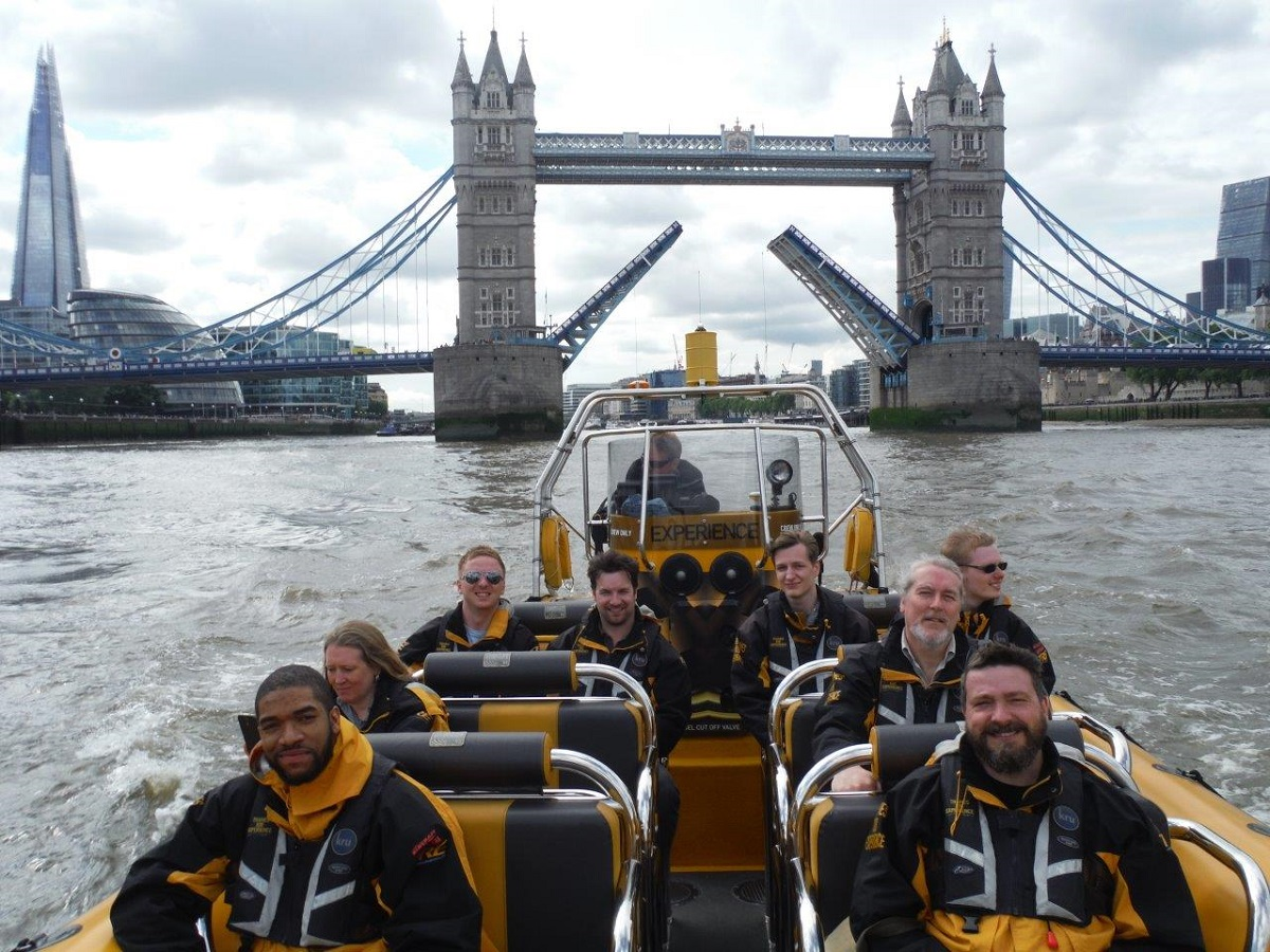 Blasting down the Thames